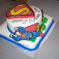Superman! All edible! This is my first try on FBCT! I really thought it went well, any input would be appreciated!