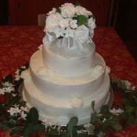 My First Wedding Cake Thanks for all of you here who walked me through it!