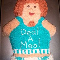 "Richard Simmons Cake The theme of the banquet was ""Don't Sweat The Small Stuff"" and they decorated with exercise equipment."