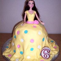 Disney Princess Belle This was my first effort at MMF. I made this cake, the Spider-man buttercream transfer and the Thomas cake all in the same 24 hour period...