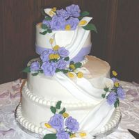 Libby This was a first...a wedding cake made for a bride I had never met. Her input was acquired through email only. I was so nervous that she...