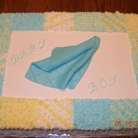 Boy Baby Shower Baby shower cake for a colleague. Not much to go on except the baby was to be a boy--and the colors were green, blue, and yellow. WASC and...