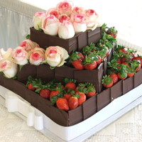 Dark Chocolate With Strawberries