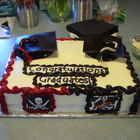 Jake And Ryan's Graduation Cake My dh's nephews were graduating from two different schools this last May. My SIL wanted one cake for both of them. I did my best. The...