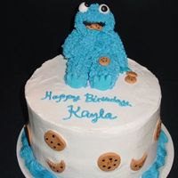 Cookie Monster Cake I saw a cake in the gallery with the cutest little SP cookie monster on top. I tried to duplicate it but I couldnât get the fur...