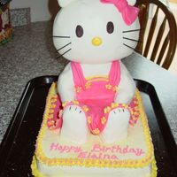 3-D Hello Kitty Birthday Cake  Literally threw this together over the weekend while I was visiting my family back home (they live 5 hours away). It was my niece's...