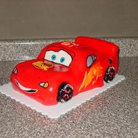 Lightning Mcqueen Cake  Made this following Nati's Cakes tutorial. Marble cake sculpted and CC with BC and MMF. Was actually fun to make and only took about 3...