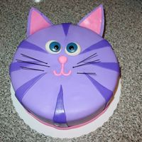 Purple Kitty Did this for a friend's daughter. It was her second birthday and she loves purple and kitties. Got the idea from a couple other cakes...