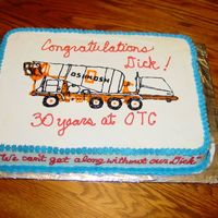Concrete Mixer   This is a cake I did for my DH for one of his employees. I freehanded the mixer from my husbands engineer brochures from work.