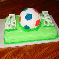 Soccer Saturday 2007 This is a cake I basically threw together in about 2 hours for our neighborhood Soccer Saturday celebration. Was a little tought decorating...