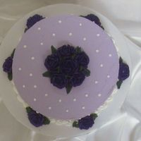 Wilton Course I Rose Cake  For the final cake of Course I, I really wanted to but my own spin on the rose cake. I decided to make it lavender because it's my MIL...