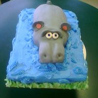 Hippo Cake We made this at the bakery for a girl who was wild for hippos