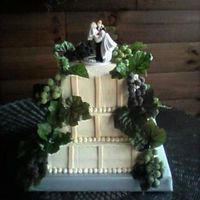 Grape Wedding Cake