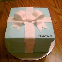 Tiffany Style Cake   This was a first attemp at a present style cake.