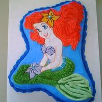 Little Mermaid   Ariel's body is done with color flow