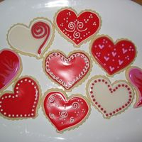 Valentine Hearts No-Fail Sugar Cookies for Valentine's day!
