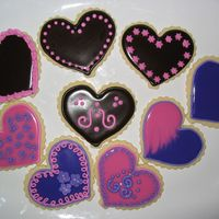 Valentine Heart Cookies More heart cookies for Valentine's day!