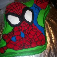 The Mighty Spidey I did this one based on the spiderman cake in the 2007 Wilton Yearbook. I think it turned out great!