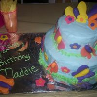 Maddie's 1St Birthday Cake The theme here was butterflies and flowers. I was really pleased with the outcome here. Enjoy!