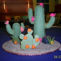 Cactus My cactus cake, I made this for the washington state cake show and competition. I made it out of rice crispies and fondant.