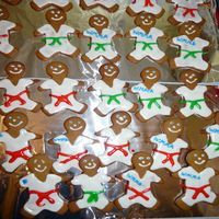 Karate Men   Gingerbread cookies I made for my sons' karate classes.