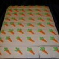 """carrot"" Party Cake Squares I made these for a coworkers Bridal Shower. Golden Butter Vanilla with Vanilla BC, carrots are bc. It was a Garden Shower, hence the '..."