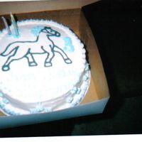 "Horse Fbct For Dr.lobos's Dd's Bday Cake  This was a 10"" vanilla cake with a FBCT of a horse.....one of my first fbct. It turned out pretty well...I was pleased. Her theme was..."