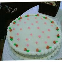 "Dh's Gm's 90Th Bday Cake #2 I made both her cakes..the theme was a pink theme......these cakes were 12""rounds with pink as the main color. I enjoyed making them..."