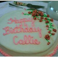 90Th Bday Cake For Dh's Gm Dh's gm's 90th bday party. 300 guests...and all commented on the cakes. I did enjoy myself with them...it was a pink day! :)...
