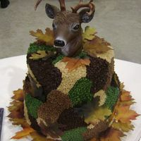 Camouflage Cake This was requested as a groom's cake. The picture they gave me was actually made with fondant, but this is my twist on it made with...