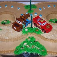 Cars Theme Cake - Desert Racing