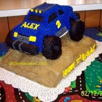 4X4 Truck   I made this cake for my son's 2nd birthday.
