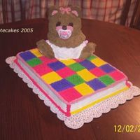Baby Teddy Quilt I made this for one of my husbands co-workers who is expecting a baby girl.