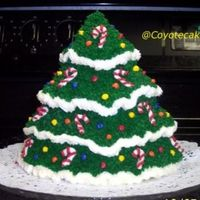 Xmas Tree I made two of these cakes last year for Christmas!