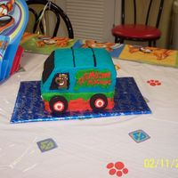 Scooby-Doo Mystery Machine This is the other cake I did for my son's 3rd birthday. It's the Mystery Machine, made from an 11x14 sheet cake cut into fourths...