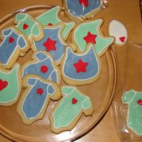Onsie Cookies Sugar cookies with Royal Icing. Idea taken from a book called 'Confetti Cakes' (Great Book!)