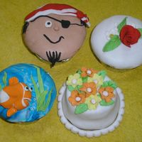 Creative Muffins With Fondant Dough Creative Muffins with Fondant dough