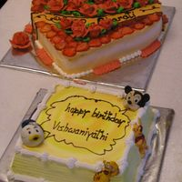 Fresh Fruit Heart & Birthday Cake Fresh fruit heart & Birthday cake