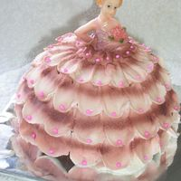 Miniature Doll Cake Peach & Pink Miniature Doll Cake Peach & Pink