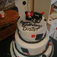 Dsc01390.jpg Buttercream with fondant accents. Guitar and amp are made from fondant.