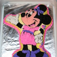 Minnie Mouse I used a Wilton Mickey Mouse cake pan to make this Minnie.