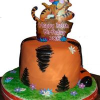 Tigger   Satin Ice with edible image plaque.