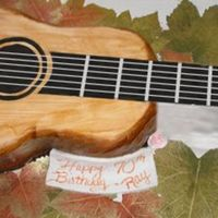 Acoustic Guitar   fondant covered