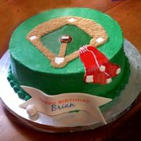 Baseball Diamond   Last minute Red Sox cake. Was lacking inspiration.
