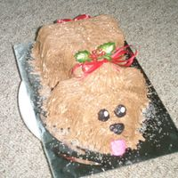 Holly-Day Puppy I did this puppy as a holiday raffle for charity. It was cute and it was fun. The winner ate the whole cake before they left the party they...