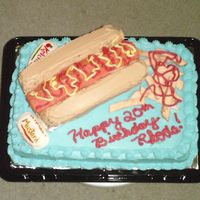 Hot Dog Cake!!!! Here is my Hot dog cake. All cake and buttercream except the fries and condiment packets. What do you guys think!!!! Am I good enough to...