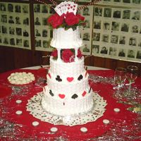 "My First Official Wedding Cake!!!! Well folks,here it is-my first official wedding cake. This is the infamous ""Serious Cake Topper Help needed"" topic of mine. The..."