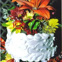 Autumn Flowers Closer Look   Here is the top of one of the cakes......gives a closer look at it!