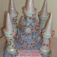 Purple Castle Cake