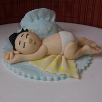 Baby Boy Cake Topper made from sugarpaste(homemade).Thanks Aine2 for inspiration.